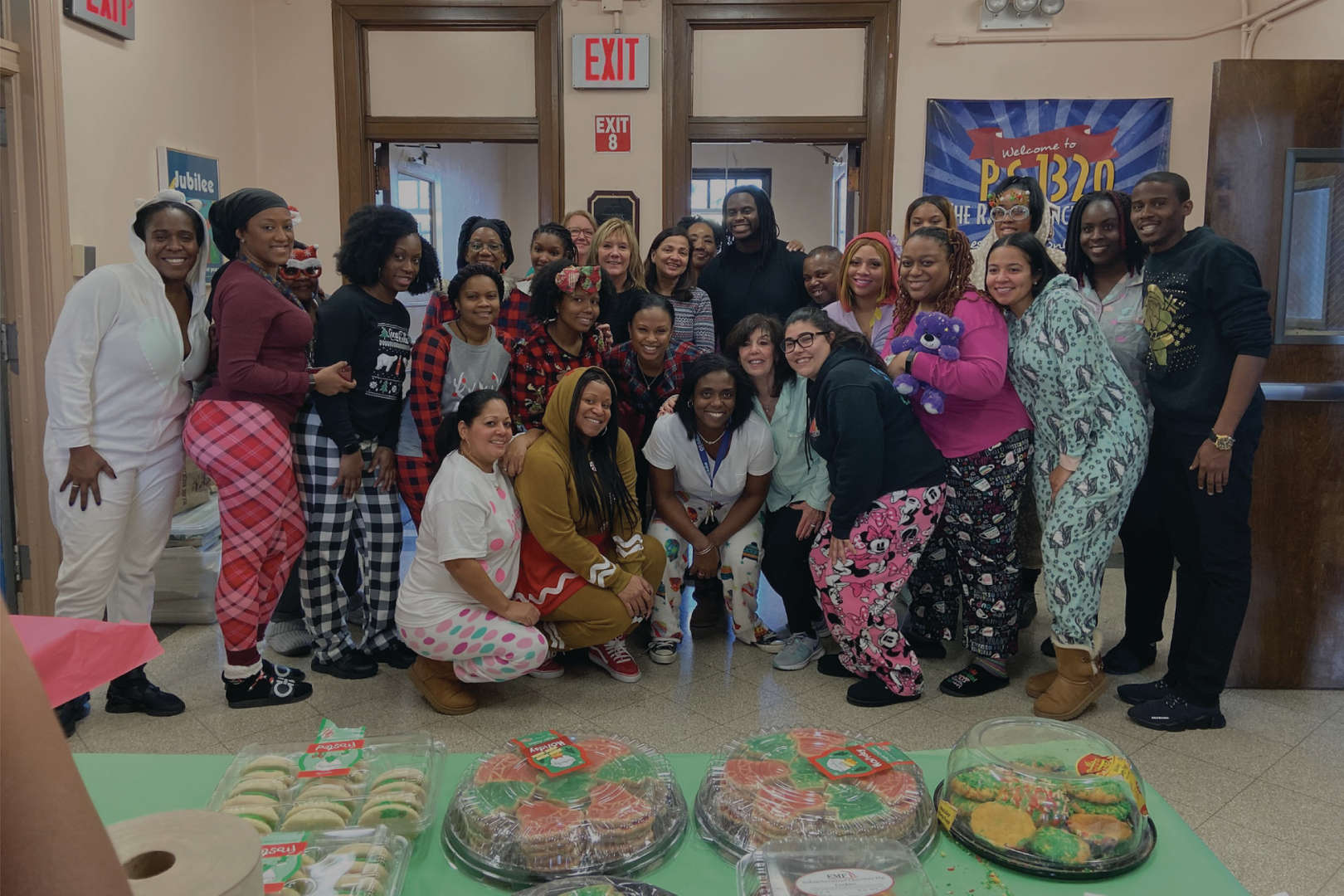 Staff during PJ day!