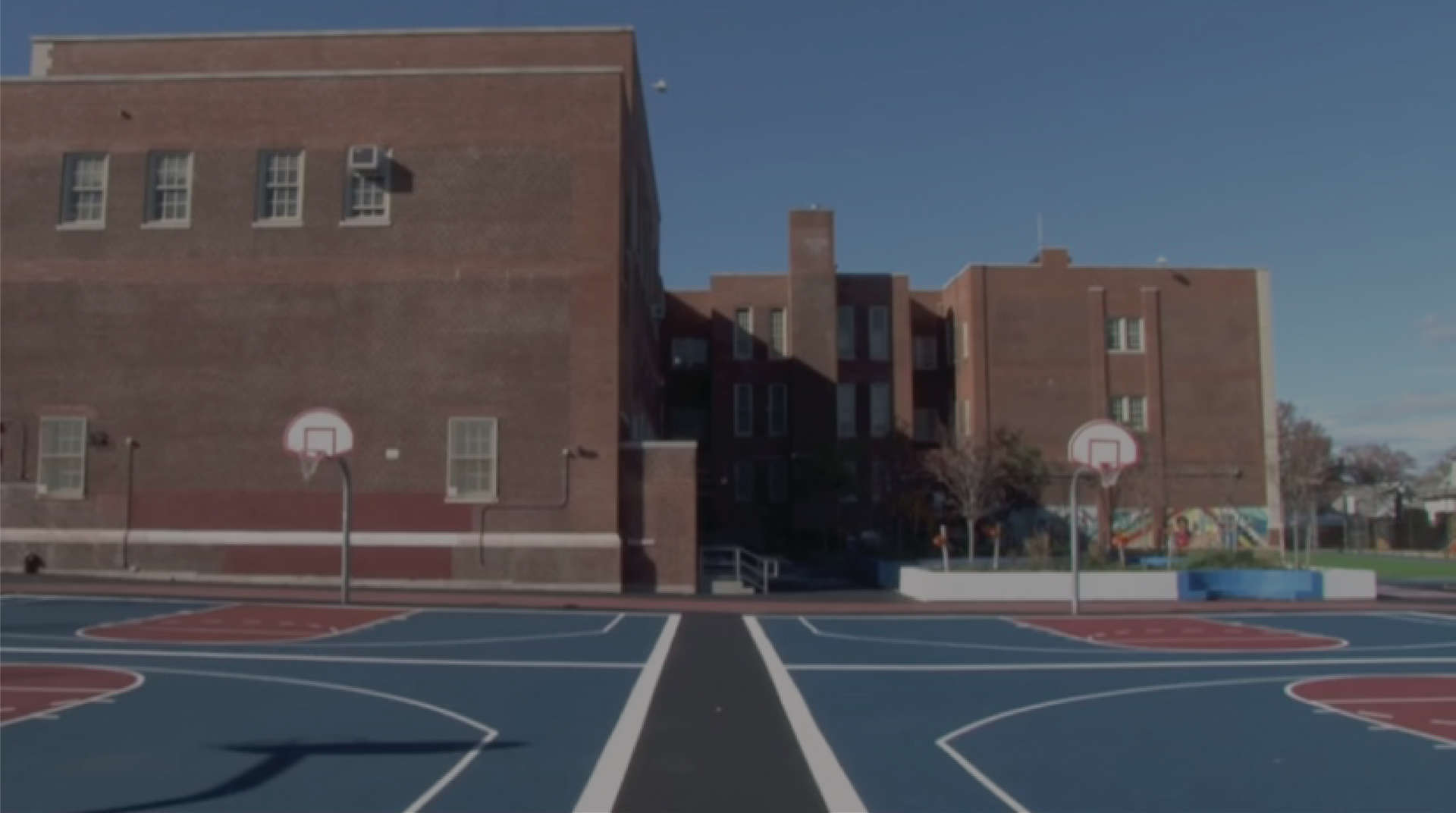 School basketball courts