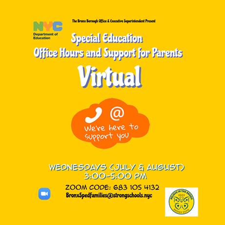 Special Education office hours