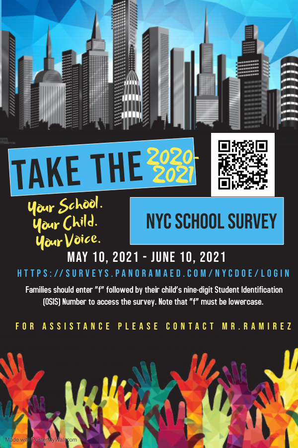 school survey flyer english