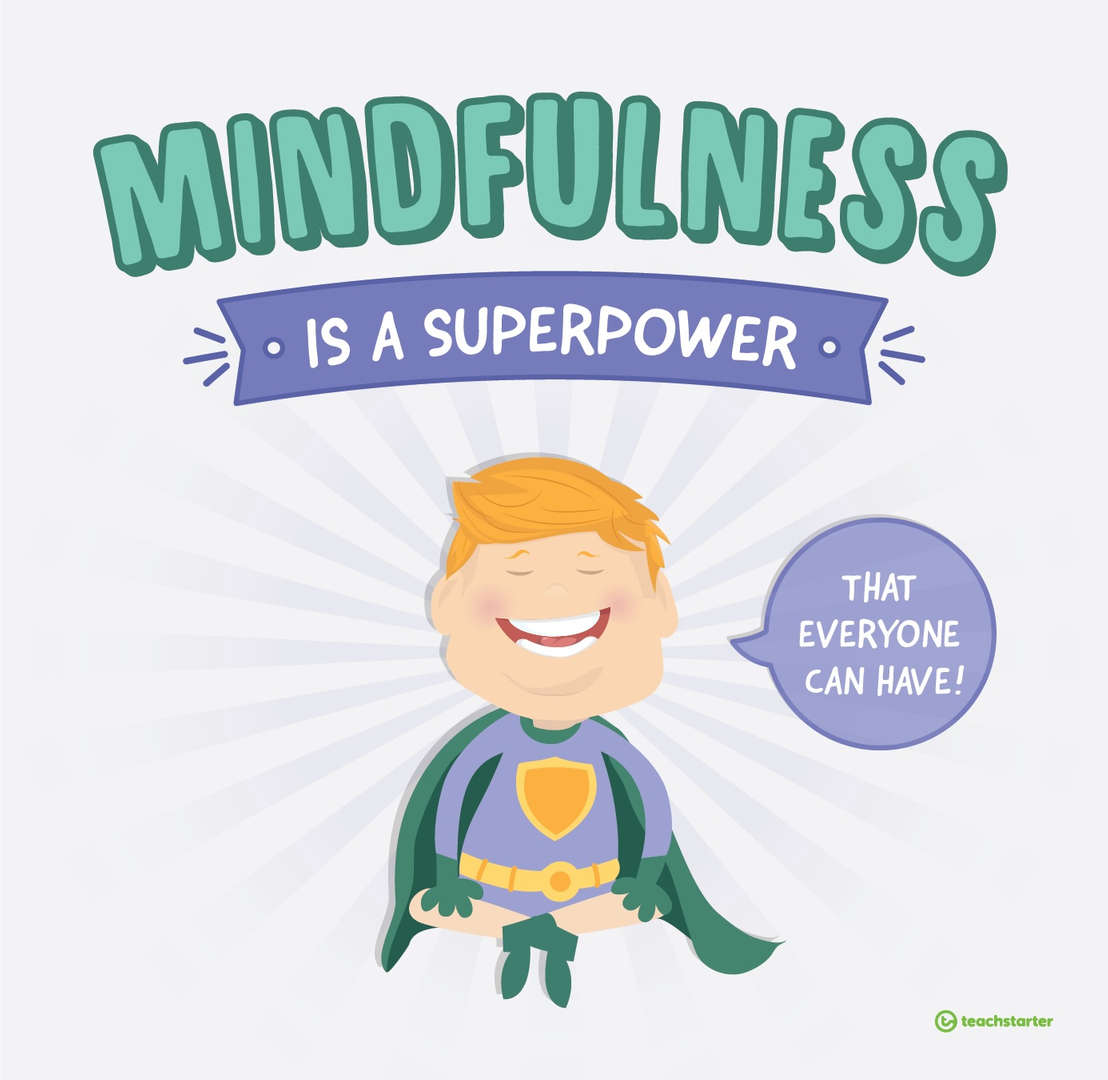 Mindfulness is a Superpower Superhero Clipart