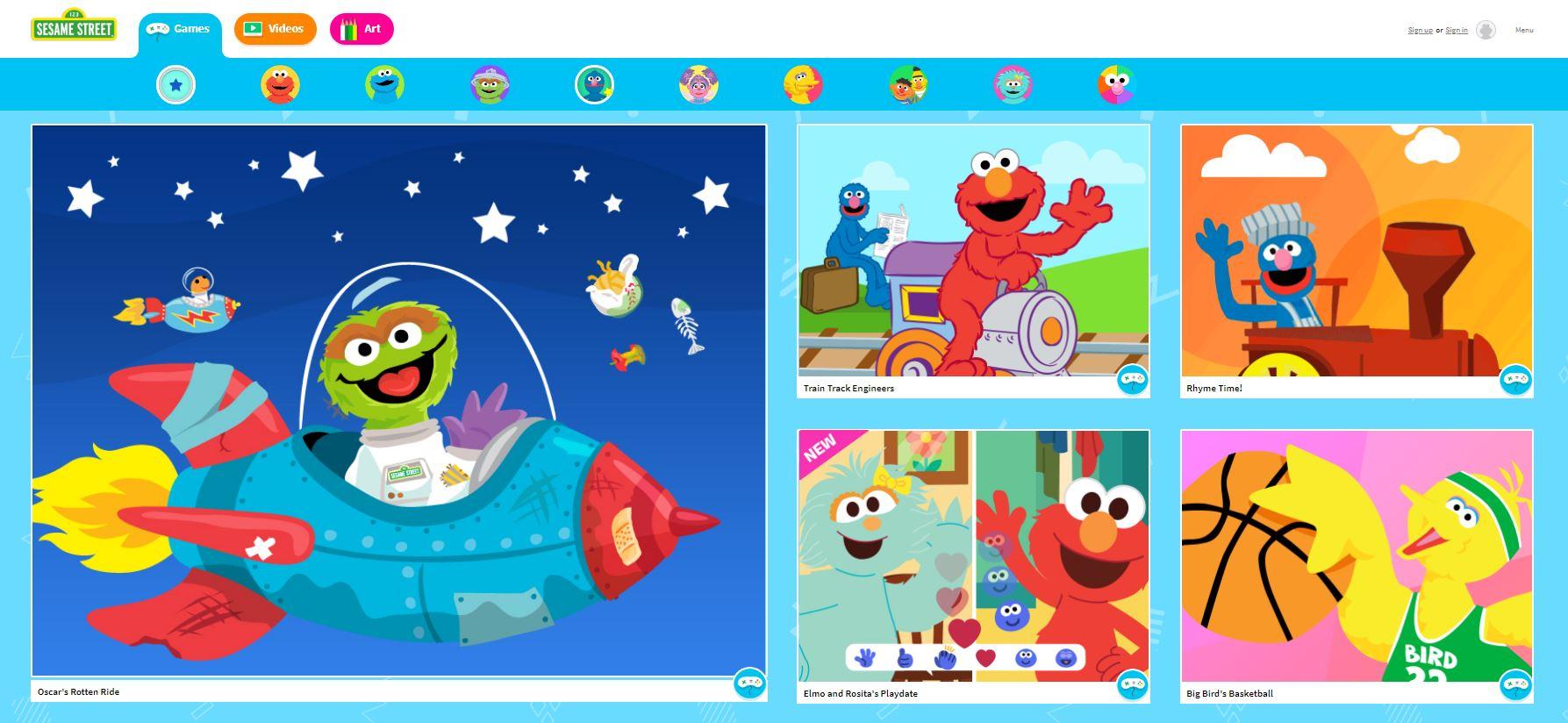 Sesame Street Online Games