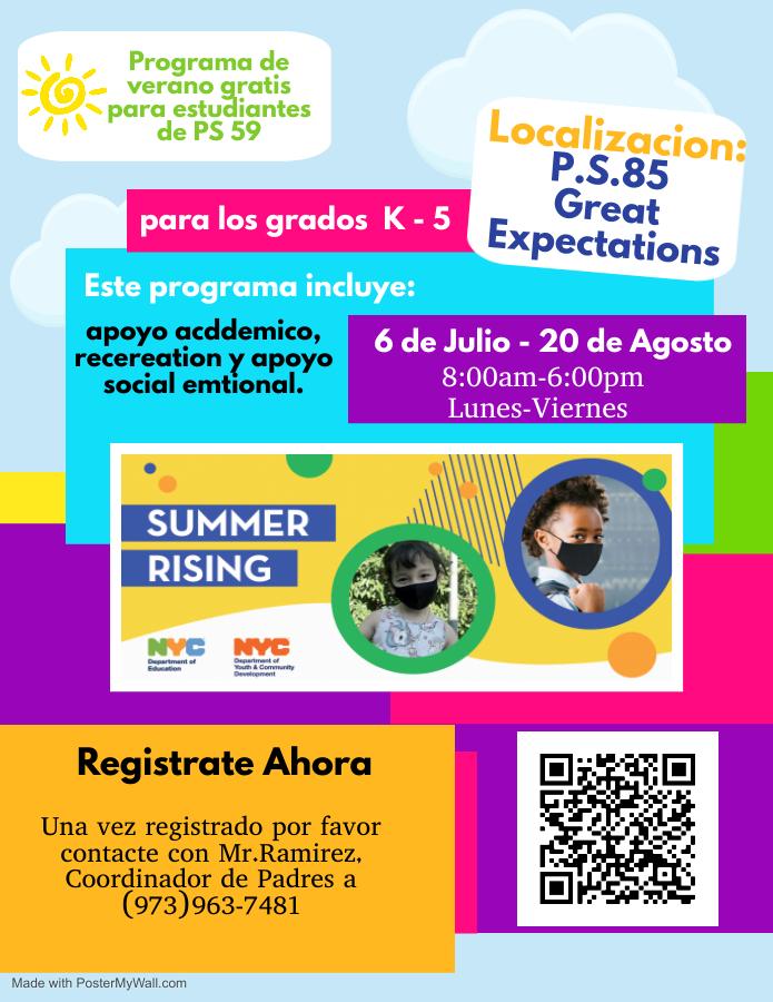 summer school flyer spanish