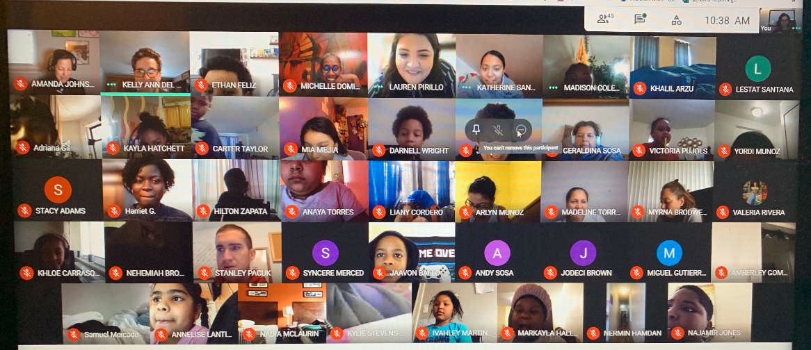 Students and Staff in a Google Classroom