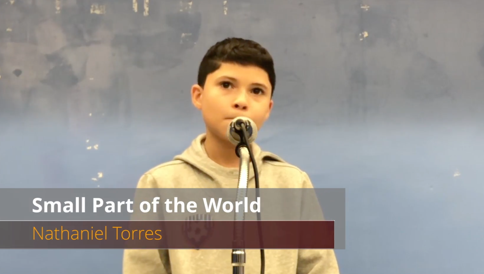 Student singing a virtual talent show