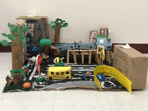 Pre-k student project of their neighborhood