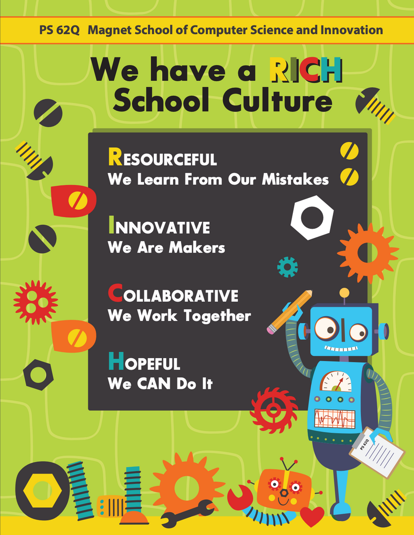 PS62's RICH School Culture poster