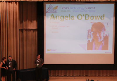 Principal Angela O'Dowd being highlighted at the School Technology Summit
