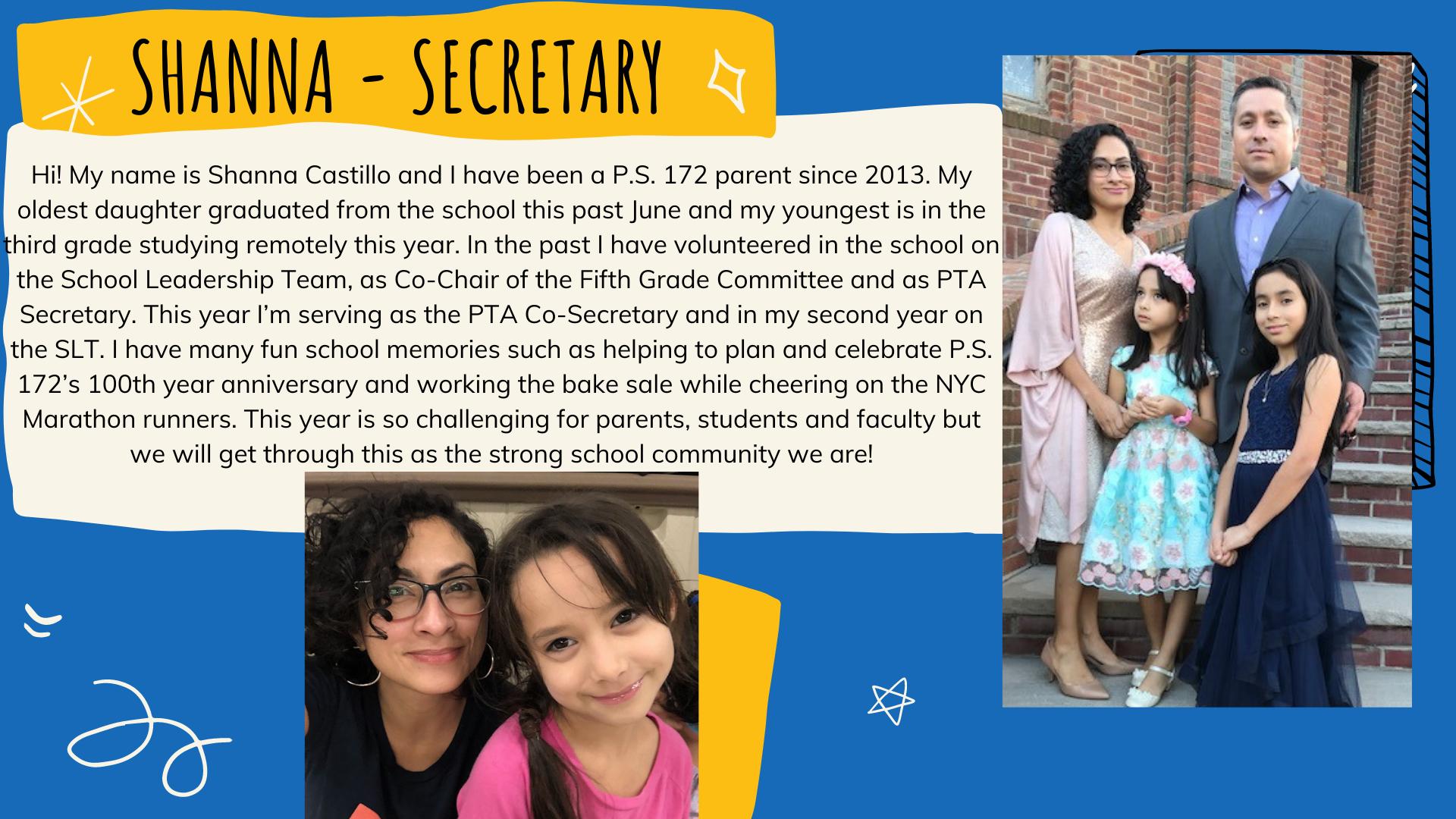 Shanna Castillo - Secretary