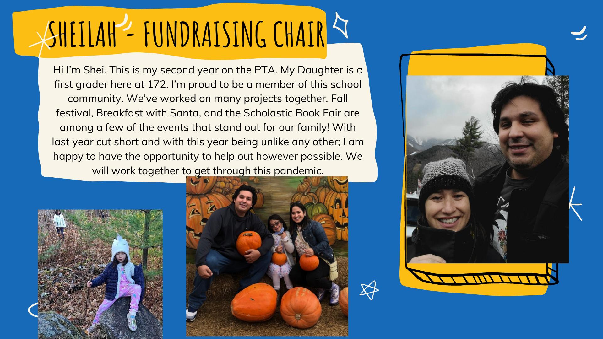 Fundraising Chairperson - Sheilah Dejesus-Calderon