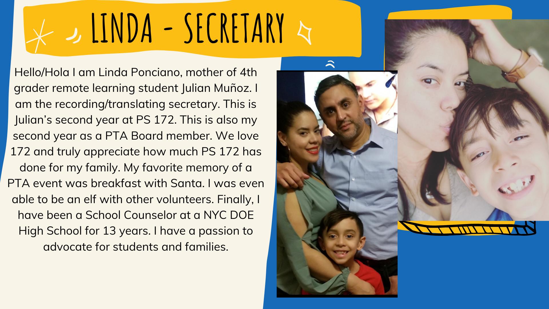 Linda Ponciano - Secretary