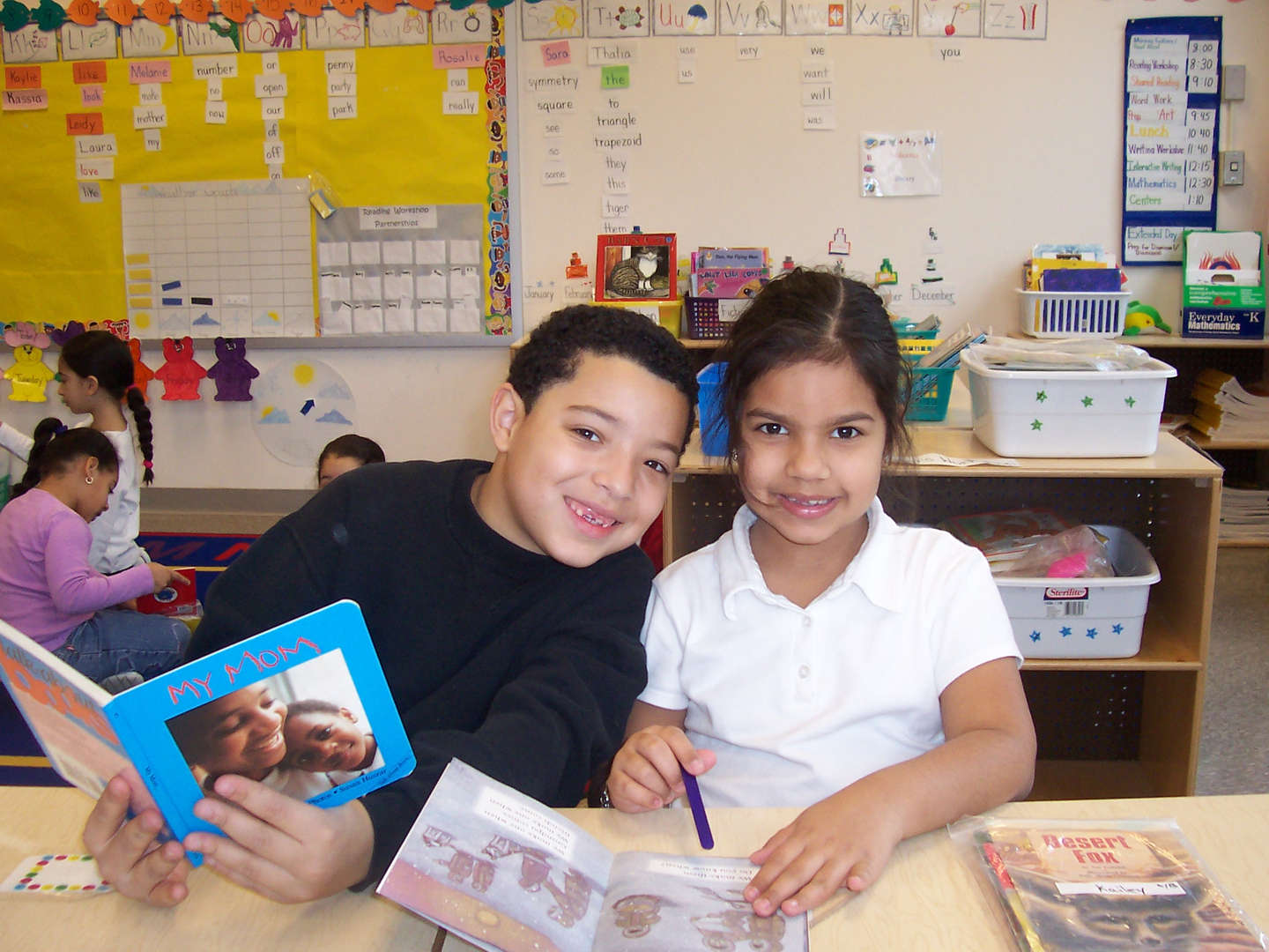Book buddies reading together