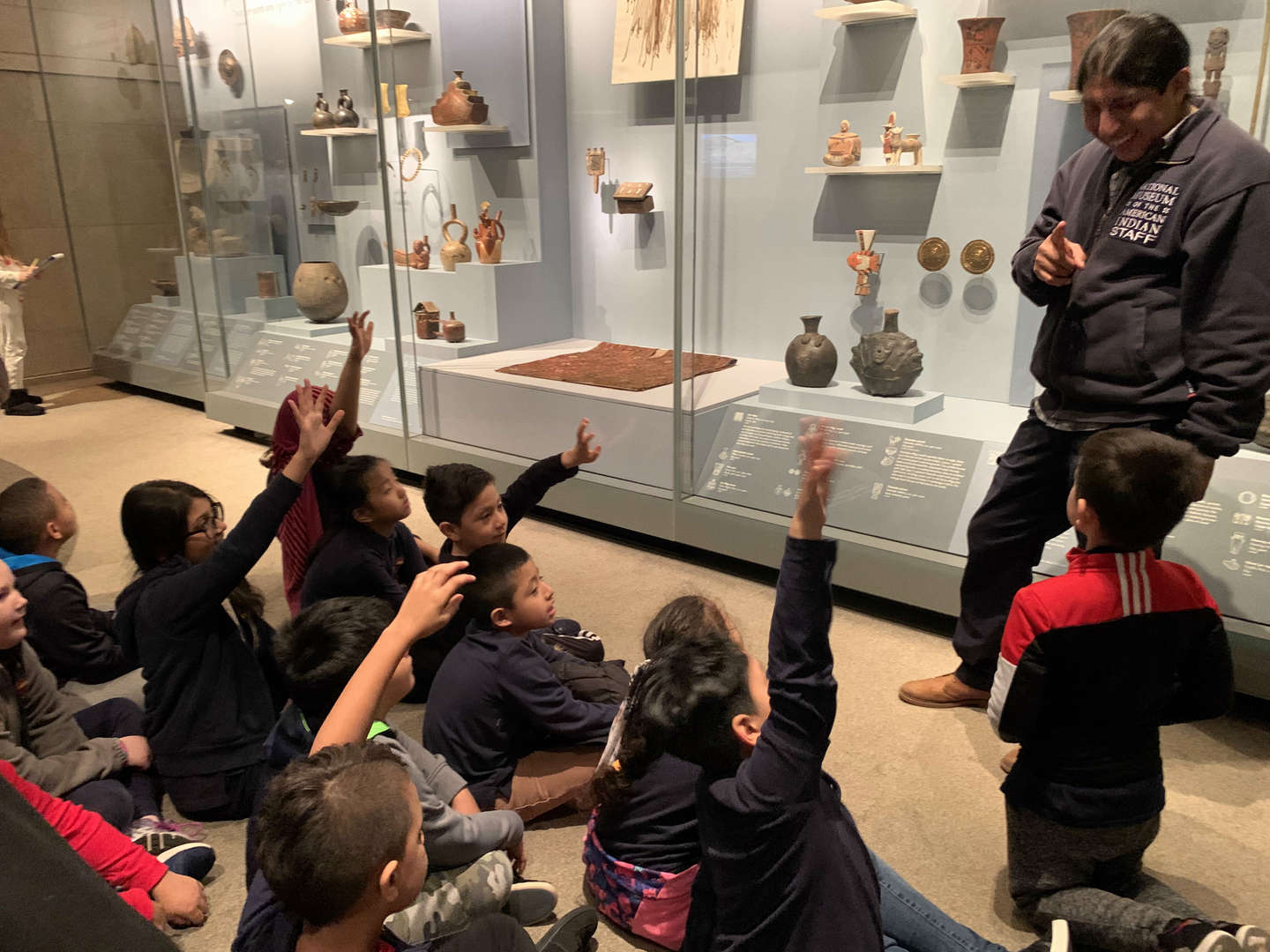 Students at the National Museum of the American Indian