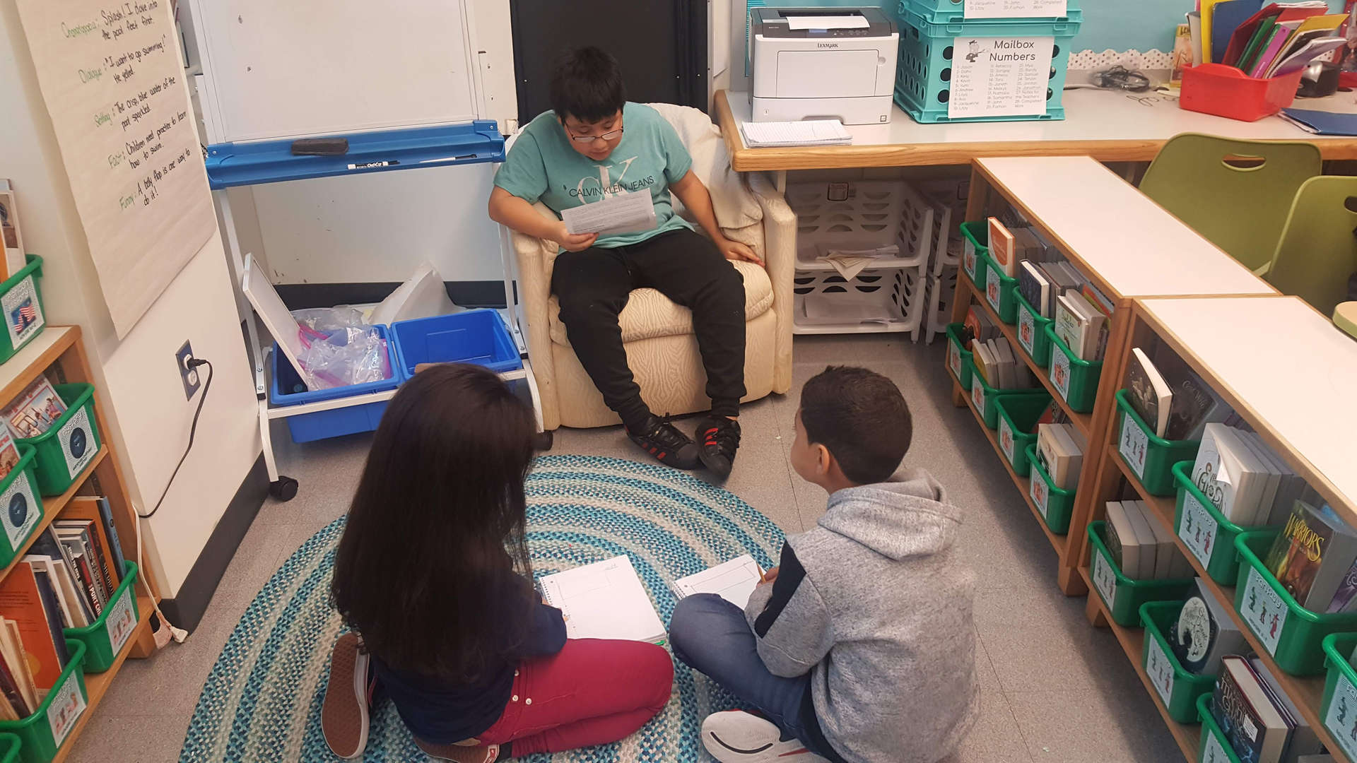 Students participating in a student-led lesson