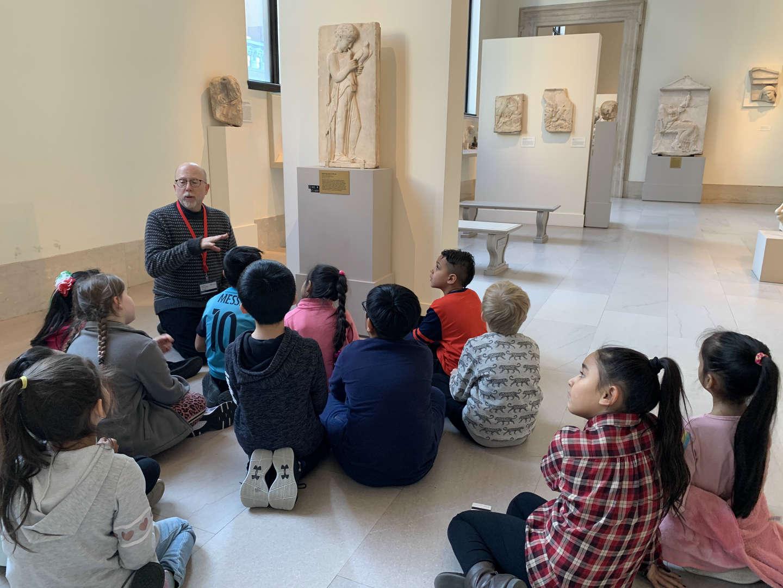 Students at the Metropolitan Museum of Art