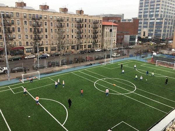 Aerial Views of Kids on Soccer Field