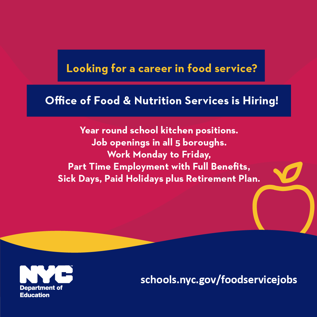 Office of Food & Nutrition is hiring