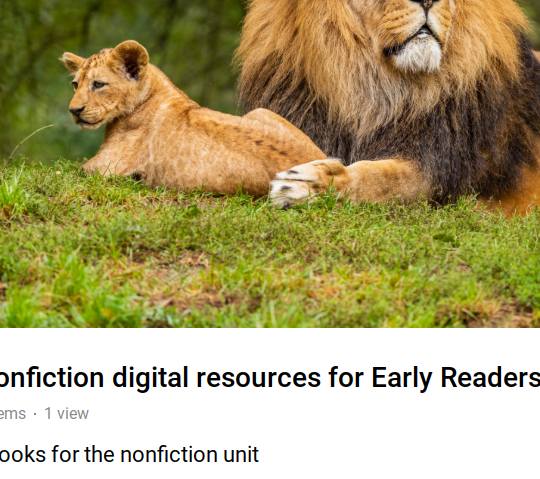 Nonfiction digital resources for 3rd Grade