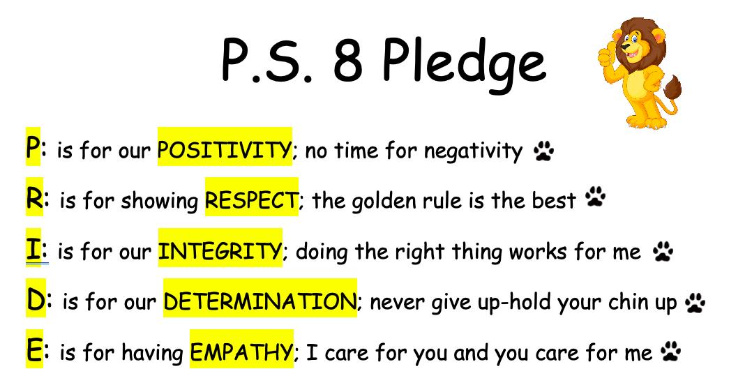 School Pledge Logo