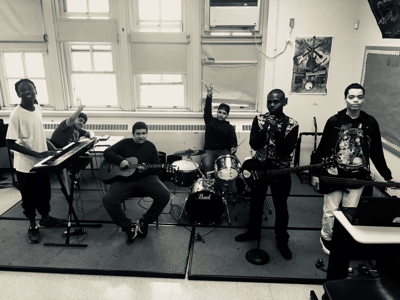 Student band at P.S. 373