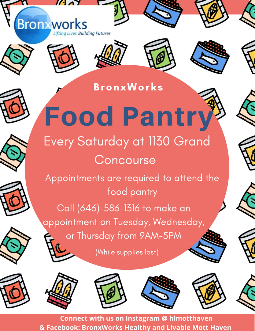 Bronxworks Food Pantry Information