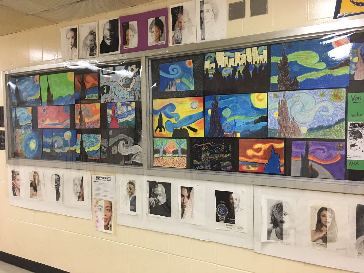 Display of student art work