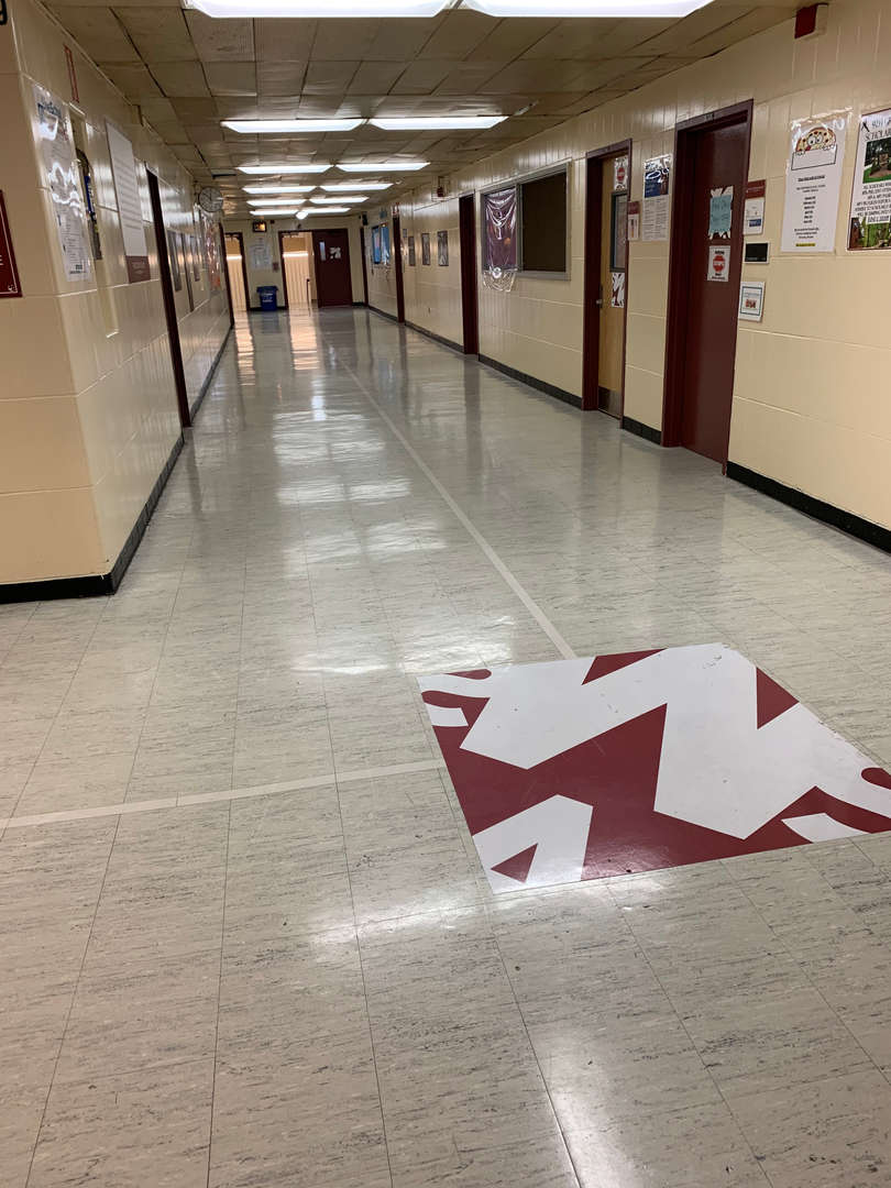 Westchester Square Academy Hallway with Logo