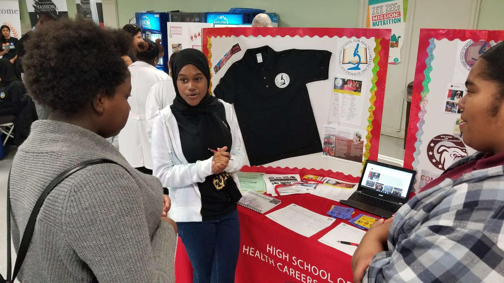 HSHCS representing at the CTE High School Fair.