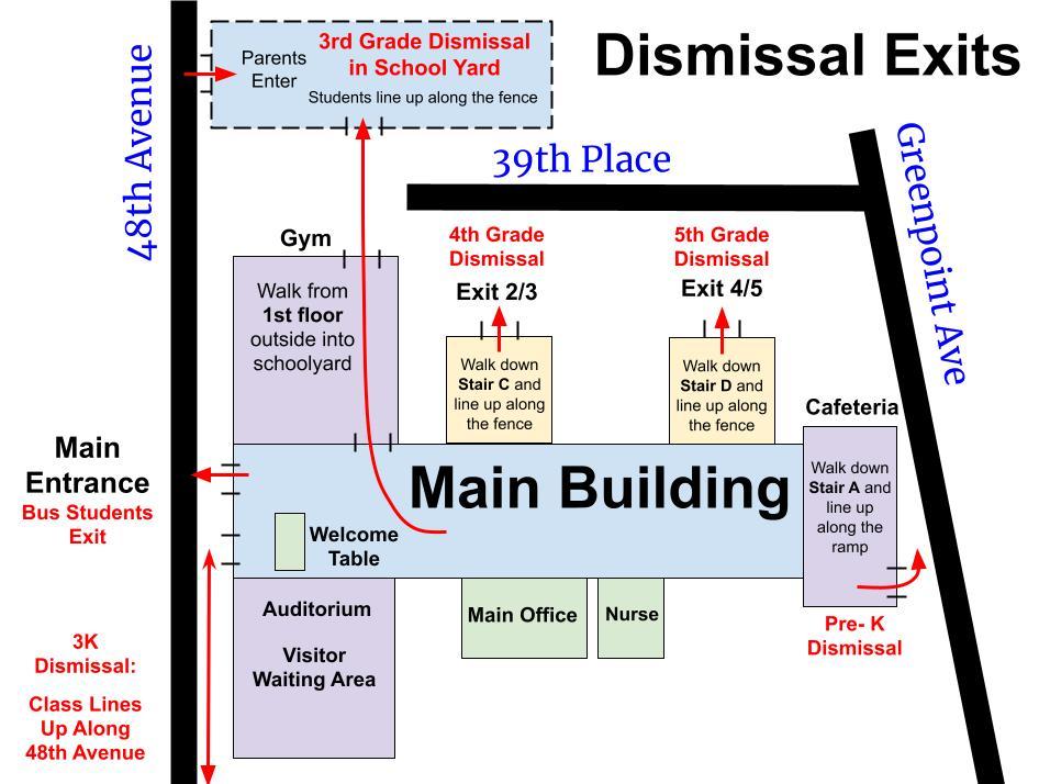 Main Building Dismissal