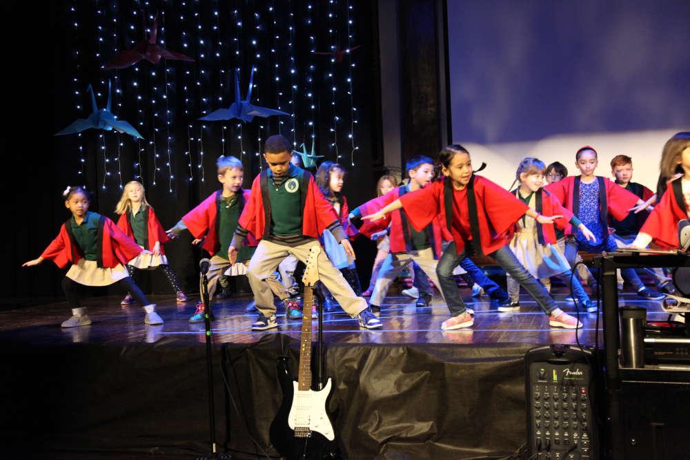 Soranbushi Performance by 1st Grade & Kindergarten Japanese Festival