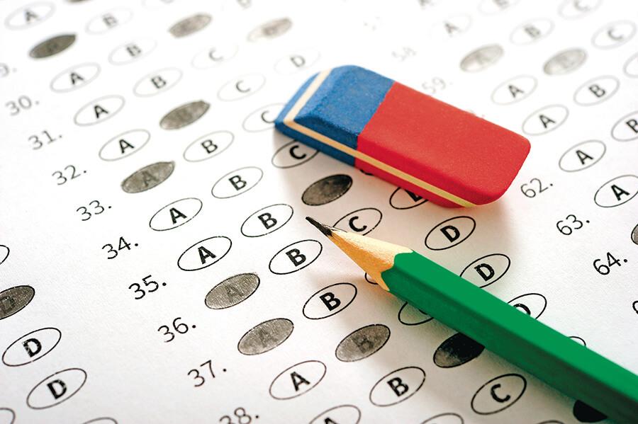 Standardized Testing Answer Sheet