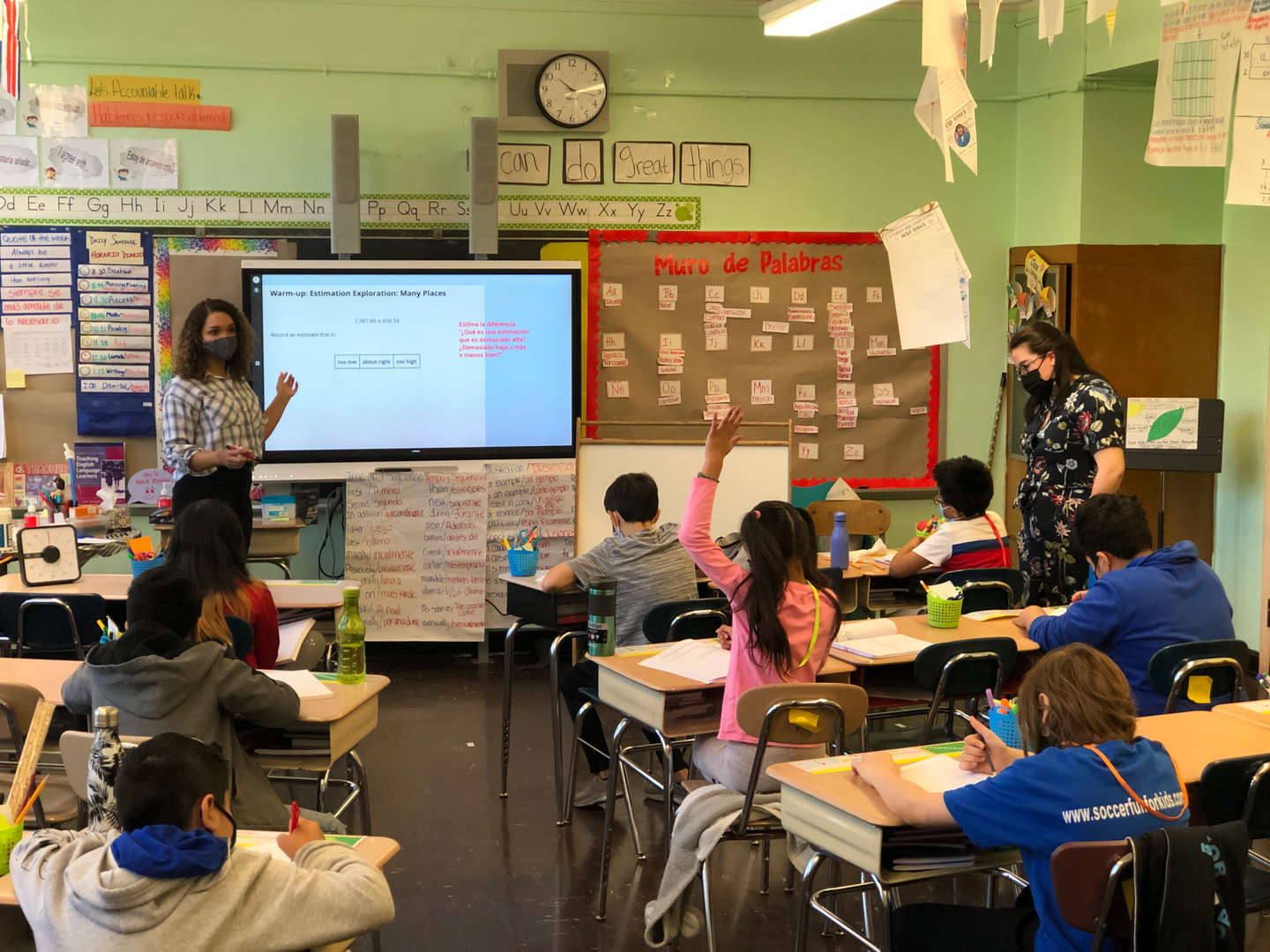 PS 139 students during class.