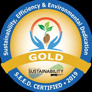 S.E.E.D. Certified 2019. Sustainability, Efficiency & Environmental Dedication.