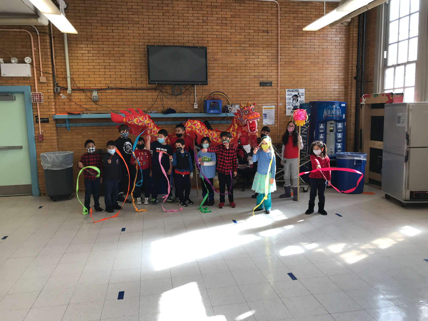 Students celebrate Lunar New Year.