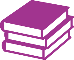 Stack of books icon.