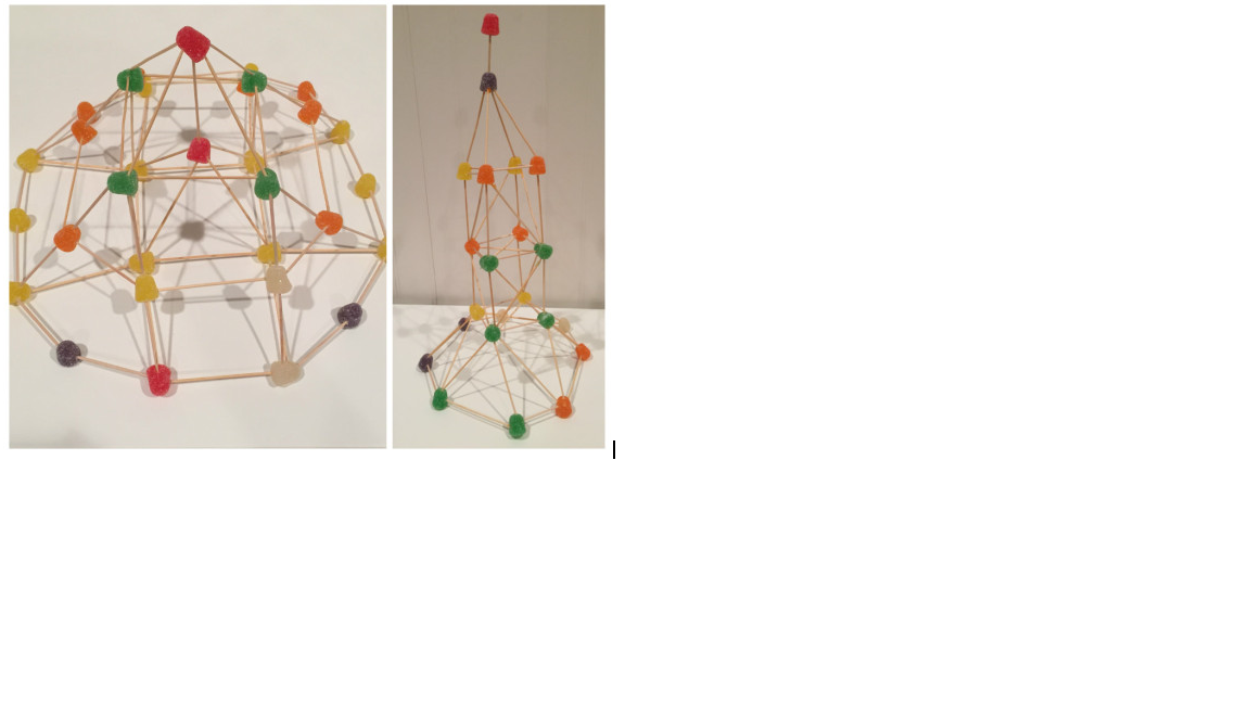 Sample student project using toothpicks and gum drops