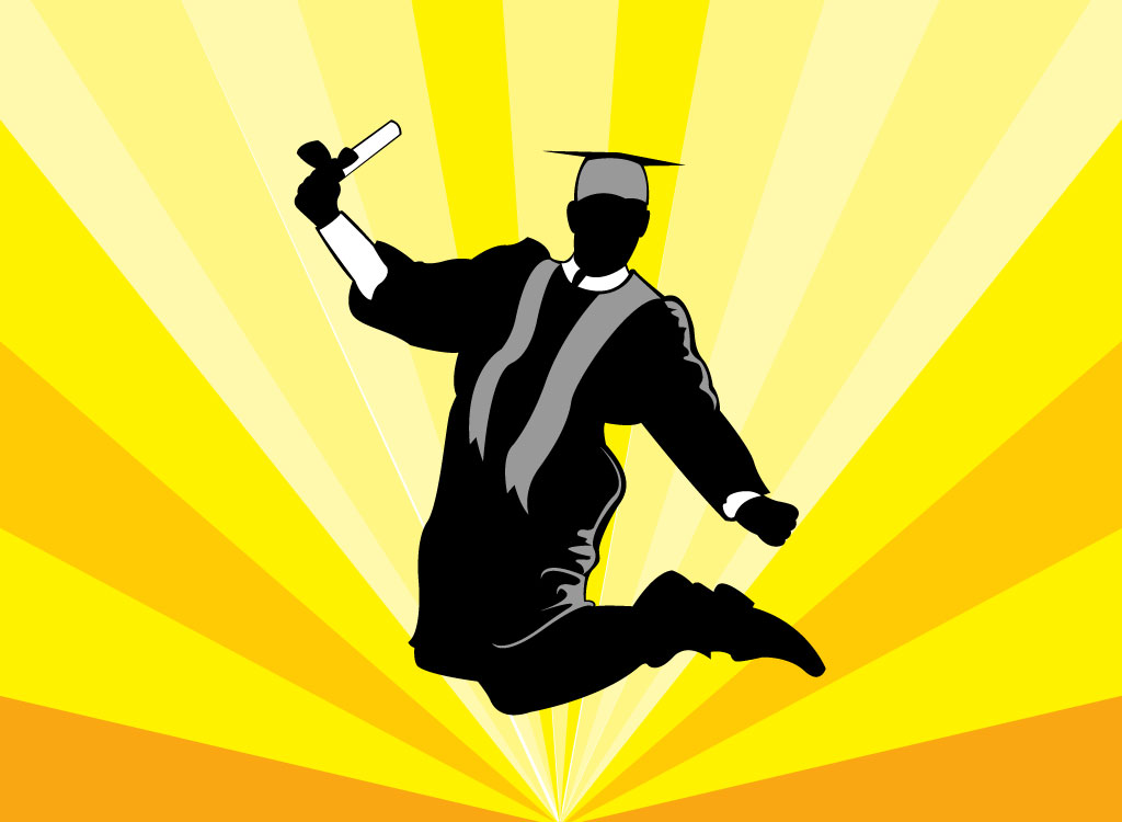 Student leaped to celebrate graduating