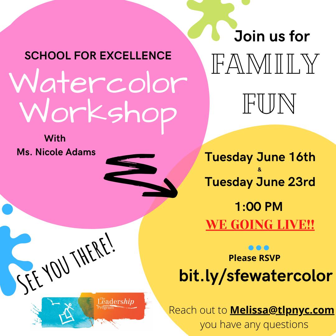 Watercolor Workshop Flyer - June 16th and June 23rd, 2020