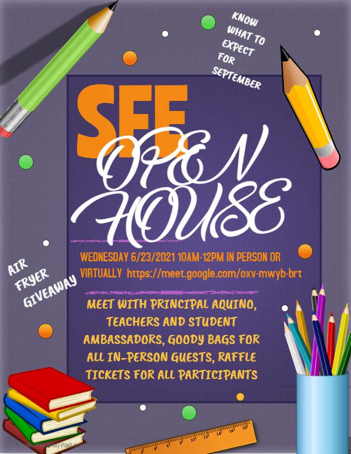 SFE Open House Flyer.