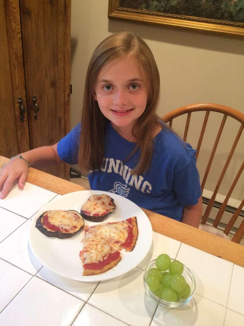 eggplant, pizza