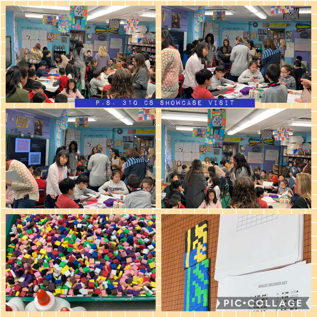 CS Showcase Visit with Ms. Ciccotelli & 4th Graders