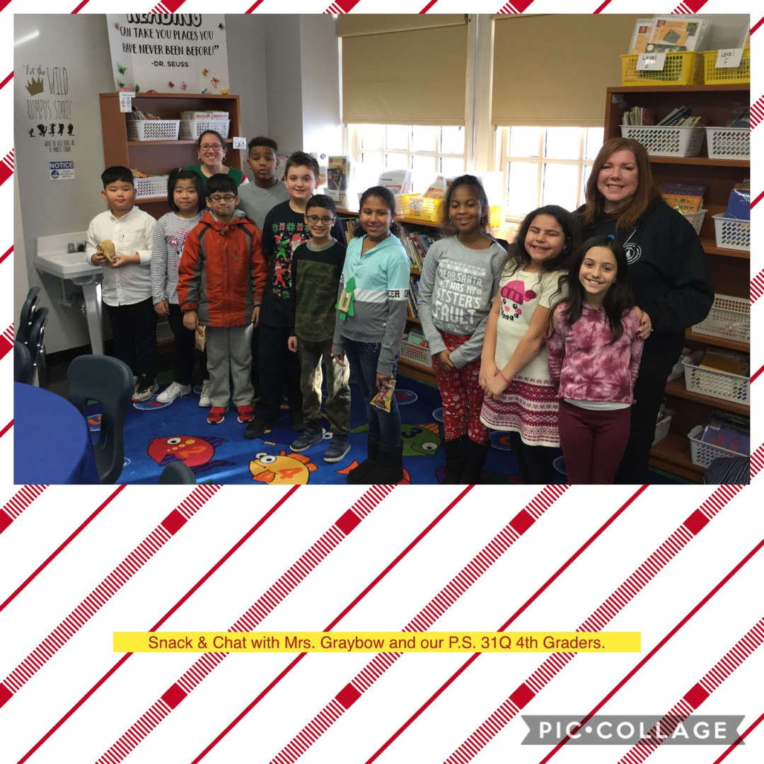 Grade 4 Snack & Chat with Mrs. Graybow