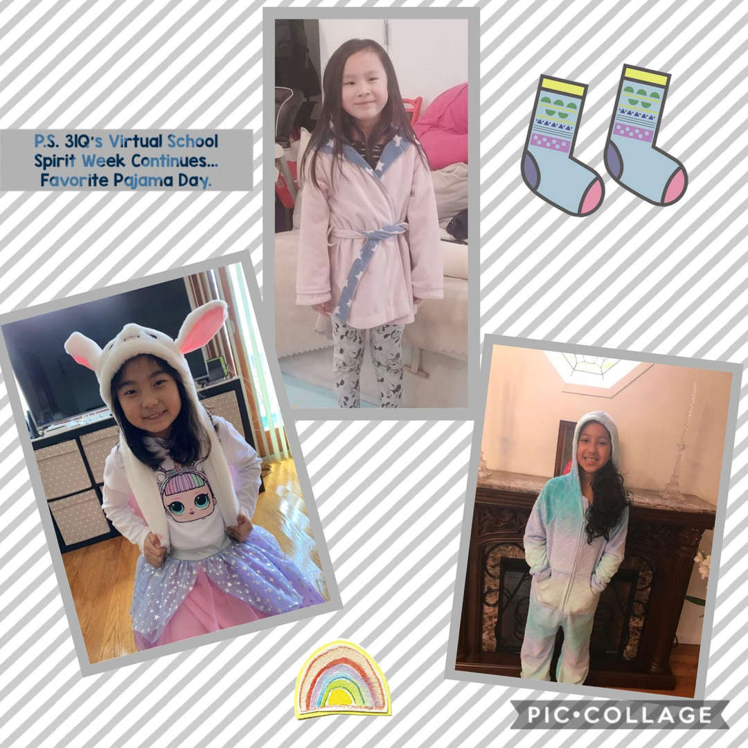 Favorite PJ Day Collage 4 of 4