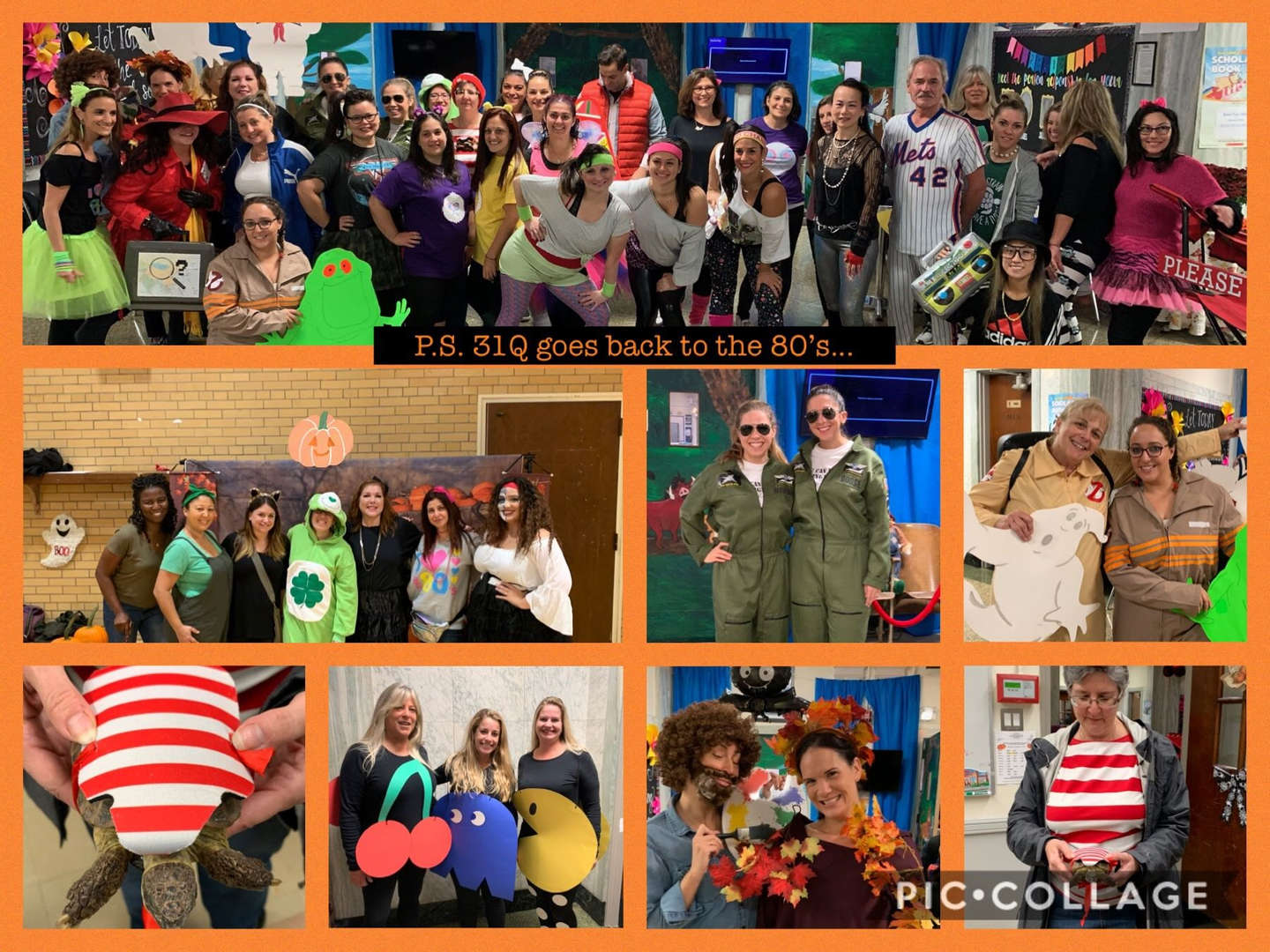 Harvest Festival 2019...P.S. 31Q staff goes back to the 1980's!