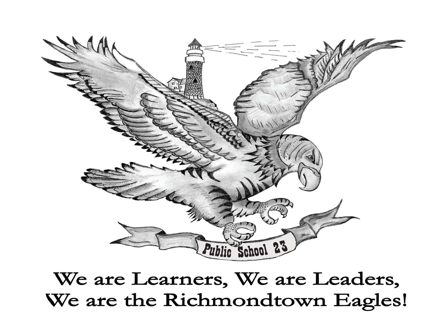 Our school mascot, the eagle, and our motto