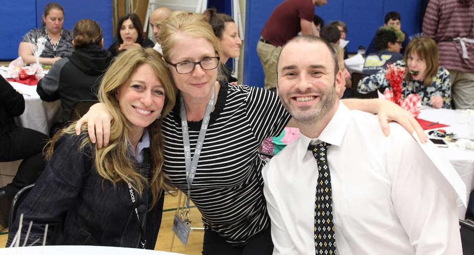 teacher and principals at appreciation luncheon