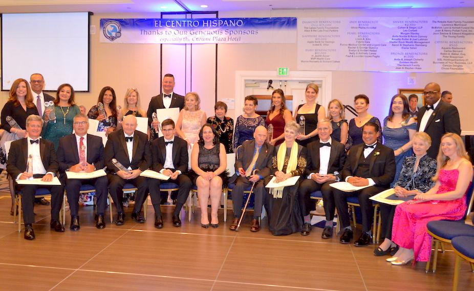 All of the honorees at El Centro Hispano gala