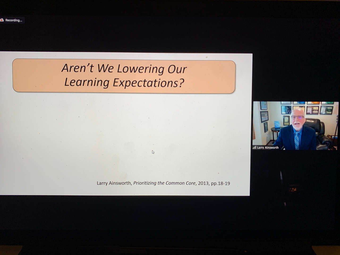 Educators review a screen while on a Zoom call