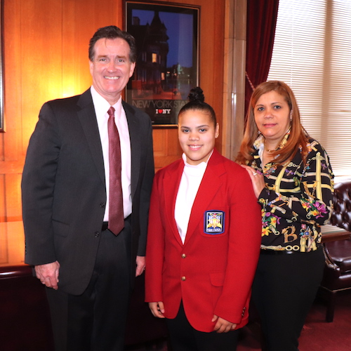 state Sen. John Flanagan, Lelie Patino, Rosa Patino