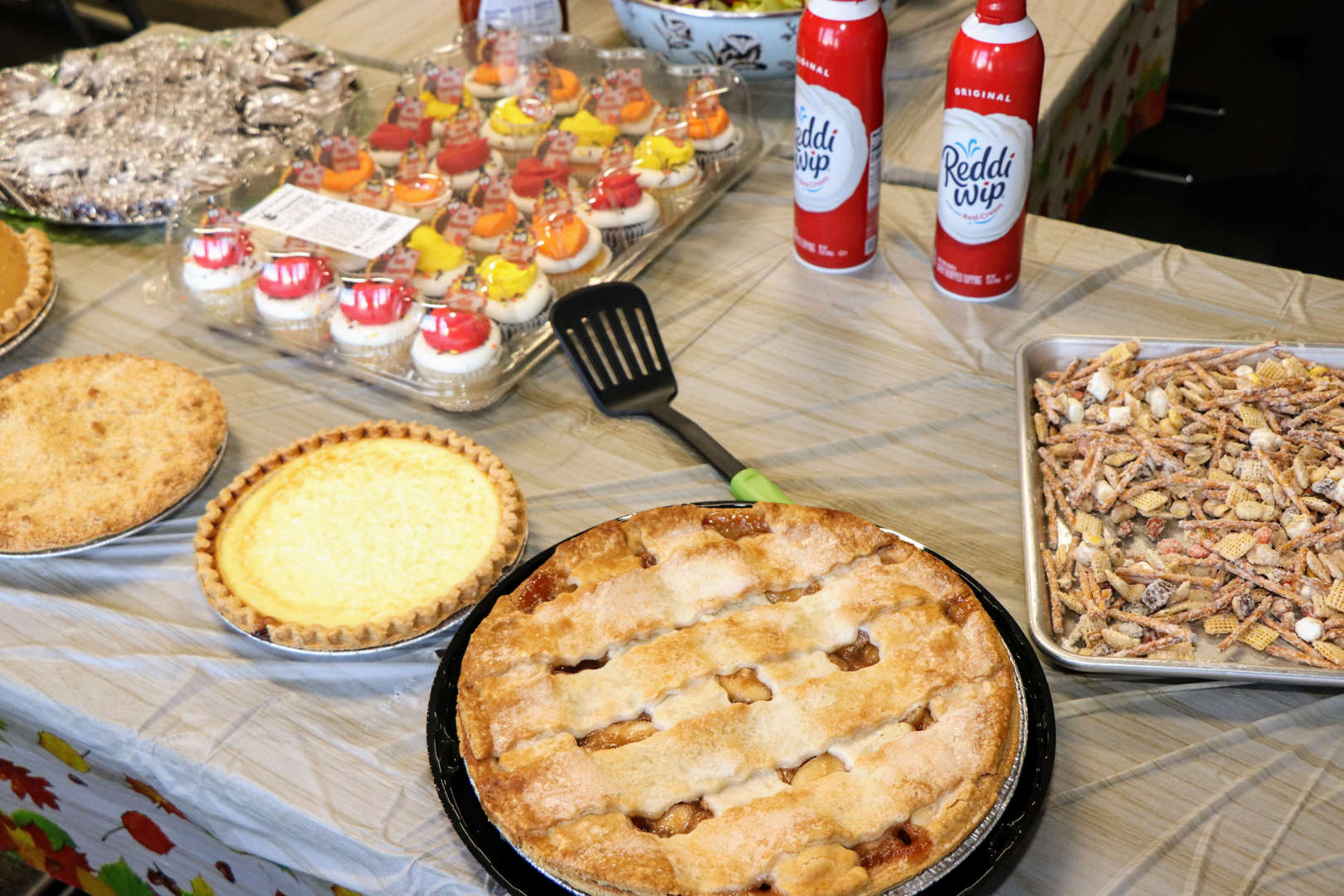 an array of desserts prepared for Thanksgiving luncheon